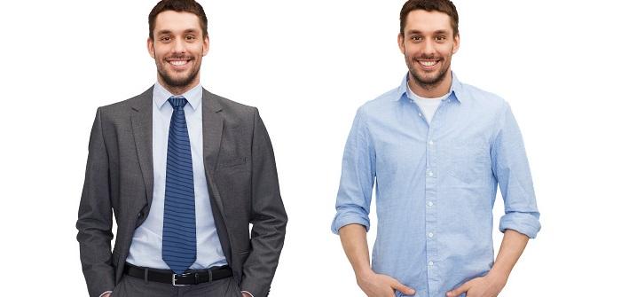 Hier könnt man fragen: für welchen Job würde sich die Kleidung bei einer Bewerbung eigenen? Bei der rechten Kleidung, wird es sicher kein Job in der Chefetage werden