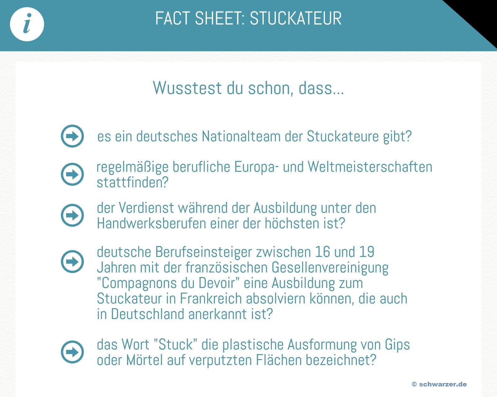 Infografik: Stuakteur - Fakten & Infos