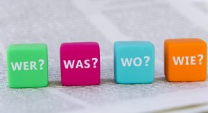 Beim Anfertigen eines Protokolls helfen die W-Fragen, die wesentlichen Informationen vollständig zusammen zu tragen. (#1)