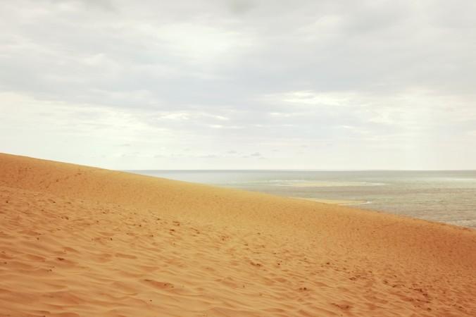 Die größte Sanddüne Europas - die Dune du Pilat - liegt südlich von Südlich von Arcachon. (#1)
