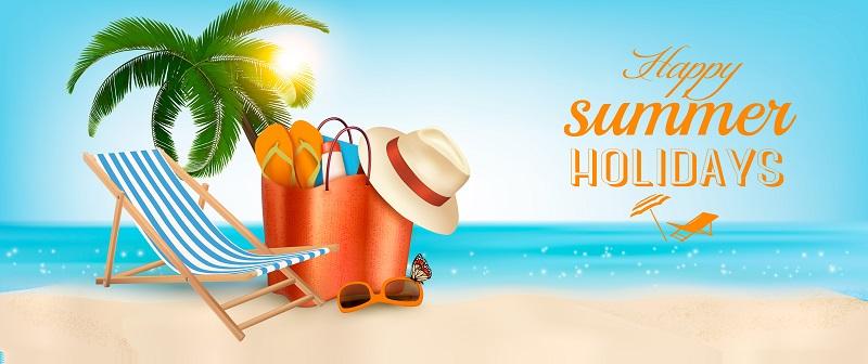 Urlaubsreif? Mit Bildern von schönen Stränden locken viele Ferienanbieter. Das Spiel mit den Kontrasten zwischen grauem Alltag und bunten Hawaiihemden fällt gleich stärker auf. (#01)