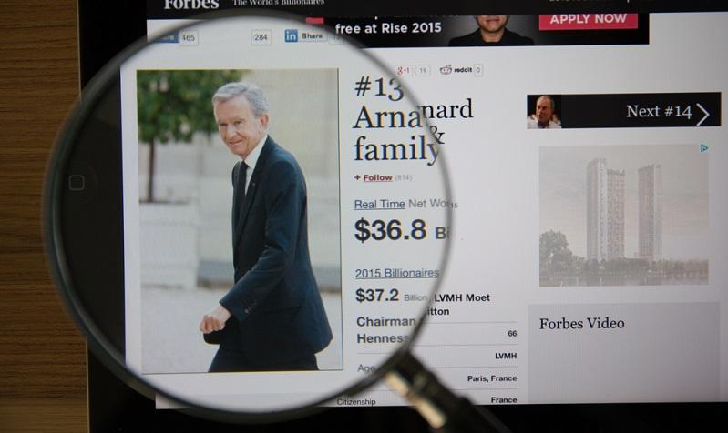 Bernard Arnault (Unternehmer für Luxusgüter) mit 72 Milliarden US-Dollar